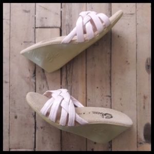 Gorgeous! Vintage 70's Sbicca Pinup Rubber wedges!